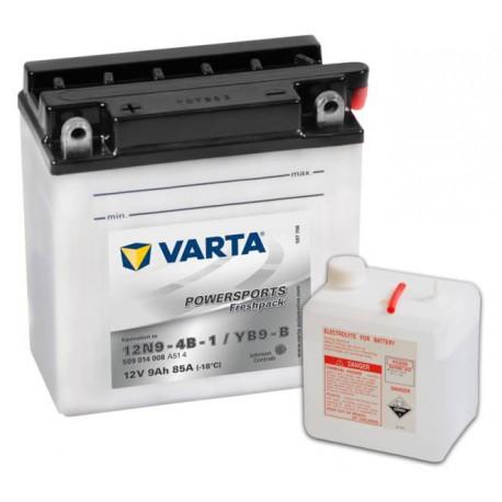 Varta Motobaterie 12V 9Ah 509 014 008 / 12N9-4B-1 / YB9-B