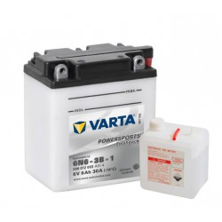 Varta Motobaterie 6V 6Ah 006 012 003 YUASA / 6N6-3B-1