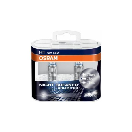 H1 55W 12V Osram Night Breaker Unlimited sada