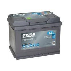 Autobaterie Exide PREMIUM 64Ah 640A 12V EA640
