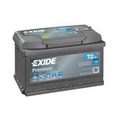 Autobaterie Exide PREMIUM 72Ah 720A 12V EA722