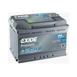 Autobaterie Exide PREMIUM 77Ah 760A 12V EA770