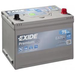 Autobaterie EXIDE Premium 75Ah, 630A, 12V, EA754