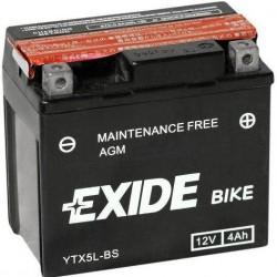 Motobaterie EXIDE 12V 4Ah 70A YTX5L-BS