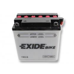 Motobaterie EXIDE 12V 9Ah 100A YB9-B
