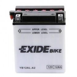 Motobaterie EXIDE 12V 12Ah 165A YB12AL-A2