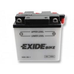 Motobaterie EXIDE 6Ah 6V, 40A 6N6-3B-1