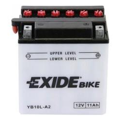 Motobaterie EXIDE 12V 11Ah 130A YB10L-A2