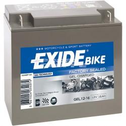 Motobaterie EXIDE 12V 16Ah 100A GEL12-16
