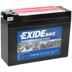 Motobaterie EXIDE 12V 2,3Ah 35A YT4B-BS