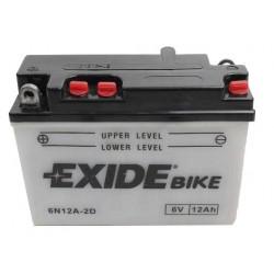 Motobaterie EXIDE 6V 12Ah, 100A 6N12A-2D