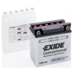 Motobaterie EXIDE 12V 9Ah 85A 12N9-3B