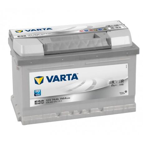 Autobaterie VARTA SILVER Dynamic 12V 74Ah 750A, 574 402, E38